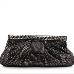 Christian Louboutin Bags - CHRISTIAN LOUBOUTIN Black Metallic Kathena Clutch